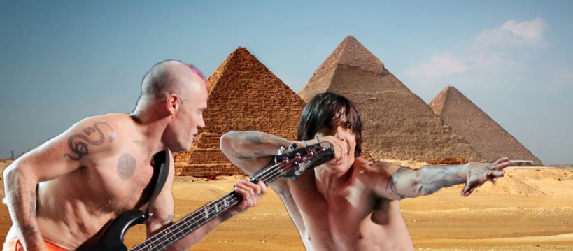 Red Hot Chili Peppers dará un show en las Pirámides de Giza