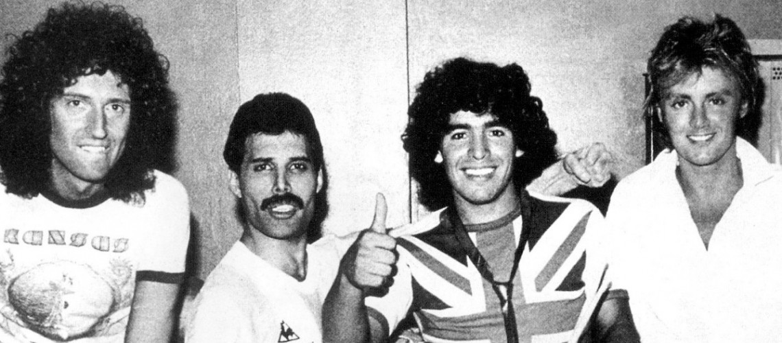 El día que Diego Maradona conocío a Freddie Mercury